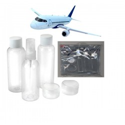Kit de voyage bouteille approuvé par les compagnies aériennes