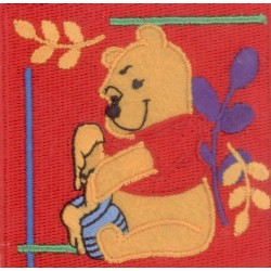 Ecusson Thermocollant Disney WINNIE L'OURSON gourmandise miel
