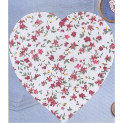Ecusson PATCHWORK THERMOCOLLANT COEUR ROUGE CREA PECAM