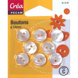 8 BOUTONS BOMBES 14mm CREA PECAM