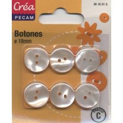8 BOUTONS BOMBES 18mm CREA PECAM