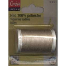 BOBINES FIL 500M polyester ECRU tous textiles a main ou machine CREA PECAM