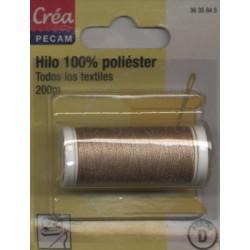 BOBINES FIL 200M polyester BEIGE PIERRE  tous textiles a main ou machine