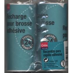 2 Recharges pour brosse à vêtement 24 feuilles CREA PECAM