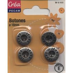 4 boutons jeans à coudre  18 CREA PECAM