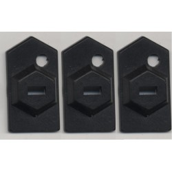 3 Plaques d'ancrage Encoche de sécurité pour câble antivol à coller ou visser