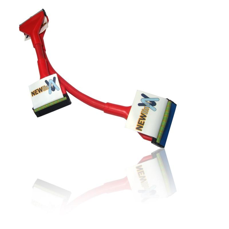 Nappe IDE ronde Ultra DMA 100/133 ATA rouge 60cm 3 CONNECTEURS ...
