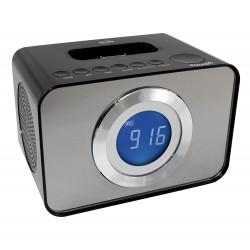 Radio-Réveil / Station d'accueil compatible Ipod et Iphone (Lecteur, Chargeur et Lecteur MP3)