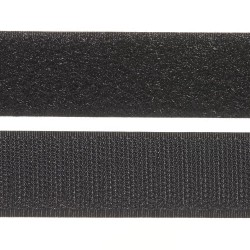 Ruban auto-agrippant Velcro NOIR  autocollant 50cmX20mm Créa Pecam