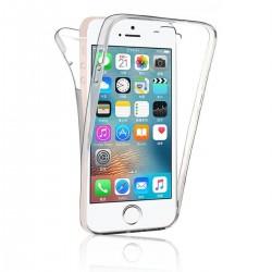 Coque intégrale transparente 360° Ultra Slim en silicone souple pour iPhone 5/5S
