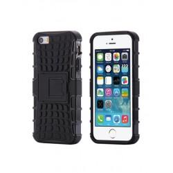 Coque de protection anti-choc noire avec support pour iPhone 5/5S/SE