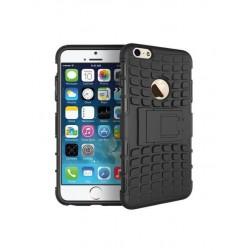 Coque de protection anti-choc noire avec support pour iPhone 6/6S