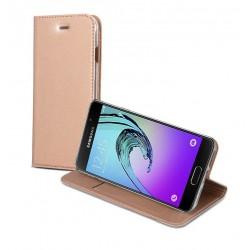 Etui folio portefeuille pour Samsung Galaxy A5 2016 Rose gold