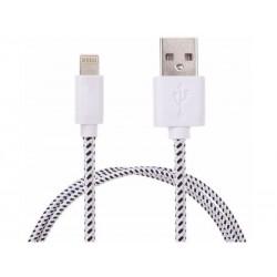 Chargeur de câble USB tressé longueur 3m pour iPhone 5/6, blanc