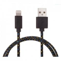 Chargeur de câble USB tressé longueur 3m pour iPhone 5/6, noir