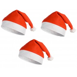 3 Bonnets de Père Noël  taille unique Classique Doux