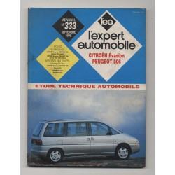 REVUE TECHNIQUE L'EXPERT AUTOMOBILE N°333 CITROEN EVASION / PEUGEOT 806
