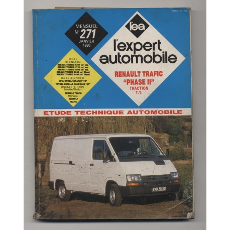 REVUE TECHNIQUE L'EXPERT AUTOMOBILE N°271 Renault Trafic phase II traction