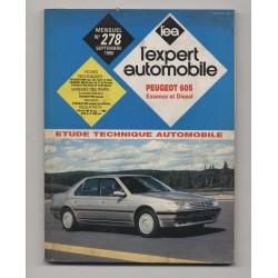 REVUE TECHNIQUE L'EXPERT AUTOMOBILE N°278 Peugeot 605 Essence et Diesel