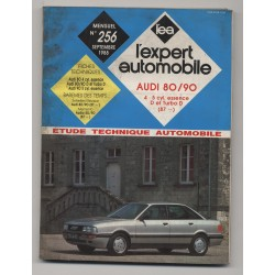 REVUE TECHNIQUE L'EXPERT AUTOMOBILE N°256 AUDI 80 90 Essence et Diesel TD