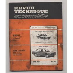 Revue Technique Automobile No 366 Renault 17 TL TS 17 Gordini et Ford Taunus