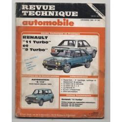 Revue Technique Automobile No 462 Renault 11 et 9 turbo, et  Autobianchi A112