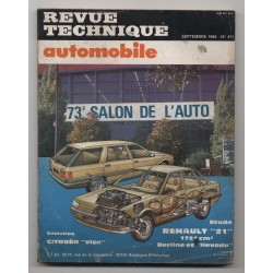Revue Technique Automobile No 471 Renault 21 berline et Nevada, Citroen VISA