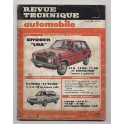Revue Technique Automobile No 454 Citroen LNA et Renault 18 TURBO