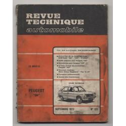 Revue Technique Automobile No 327  Peugeot 104 et Chrysler 160 180 2 litre