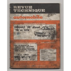 Revue Technique Automobile No 409 RENAULT 20 D TD GTD FIAT 131 FIAT 132 FORD ESCORT II