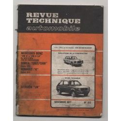 Revue Technique Automobile No 372 Citroen LN Mercedes 4L Simca 1307 1308