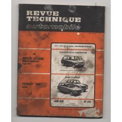 Revue Technique Automobile No 379 Peugeot 304 D BRITISH LEYLAND