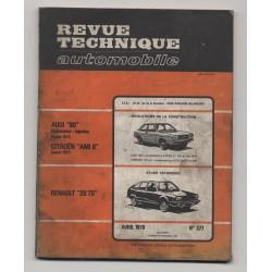 Revue Technique Automobile No 377 Renault 20 TS Audi 80 Ami 8