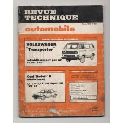 Revue Technique Automobile No 452 VW TRANPORTER Opel KADETT D