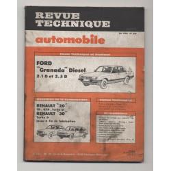 Revue Technique Automobile No 444 FORD GRANADA 2.1 ET 2.5 D REANAULT 20 30