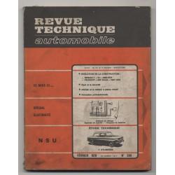 Revue Technique Automobile No 286 NSU 4 cylindre, Renault 16 Peugeot 404