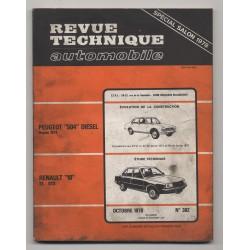 Revue Technique Automobile No 382 Renault 18 TS GTS Peugeot 504 Diesel
