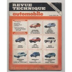 Revue Technique Automobile N° 496 Spécial évolution BX 19Gti Fiat Td Fiesta FSO 125......