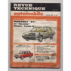 Revue Technique Automobile No 487 RENAULT 21 NEVADA DIESELTURBO D LADA