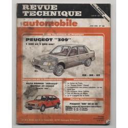 Revue Technique Automobile No 468 Peugeot 309 SR GR GT ALFASUD
