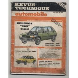 Revue Technique Automobile No 468 Peugeot 205 DIESEL TALBOT SOLARA 1510