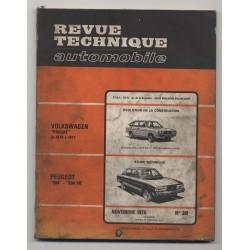 Revue Technique Automobile No 361 PEUGEOT 604 PEUGEOT 504 V6 VW PASSAT