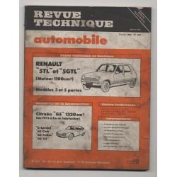 Revue Technique Automobile No 397 Renault R5 TL GTL Citroën GS