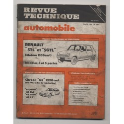 Revue Technique Automobile No 397 Renault R5 Citroën GSA Fiat Ritmo