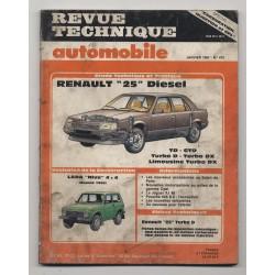 Revue Technique Automobile No 475 Renault 25 diesel LADA NIVA 4x4