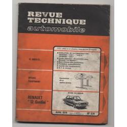 Revue Technique Automobile No 334  RENAULT 12 GORDINI PEUGEOT 204 304 304 S