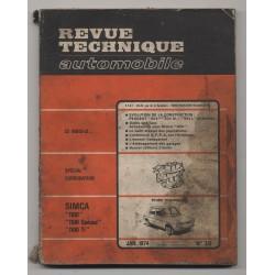 Revue Technique Automobile No 334  SIMCA 1100 PEUGEOT 504 GL L