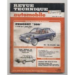 Revue Technique Automobile No 466 PEUGEOT 309 FIAT RITMO REGATA