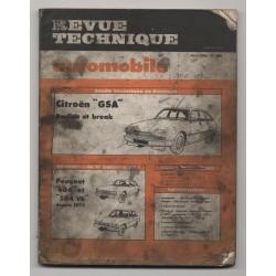 Revue Technique Automobile No 399 CITROËN  PEUGEOT 504 et 604 V6