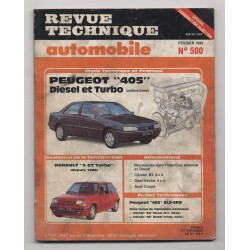 Revue Technique Automobile No 500 PEUGEOT 405 D TD Renault 5 GT TURBO